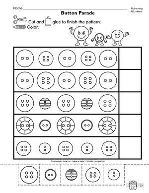 pattern completion worksheets 4 patterns pattern worksheet worksheets pattern. Black Bedroom Furniture Sets. Home Design Ideas