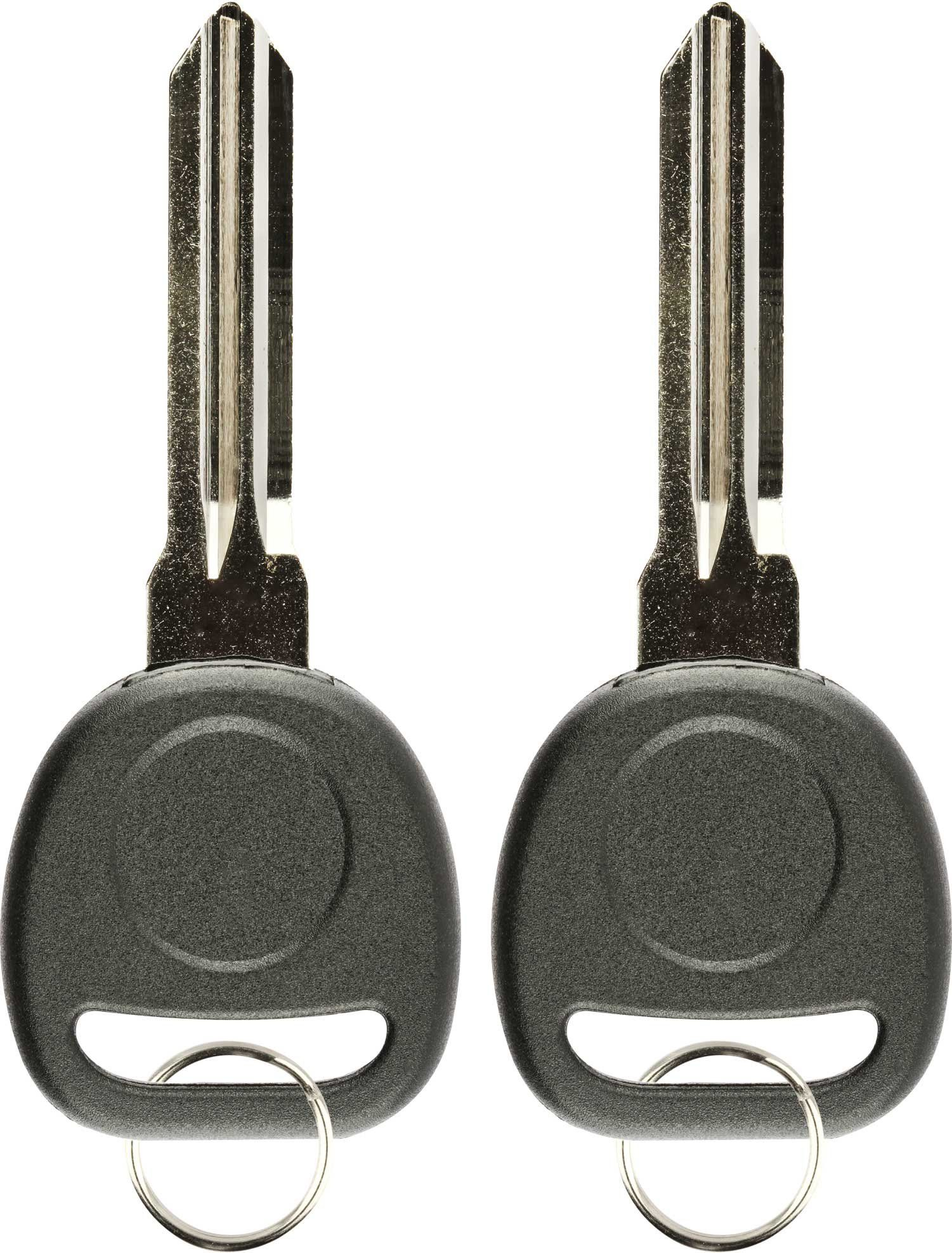 Keylessoption Replacement Uncut Transponder Chip Key Blank