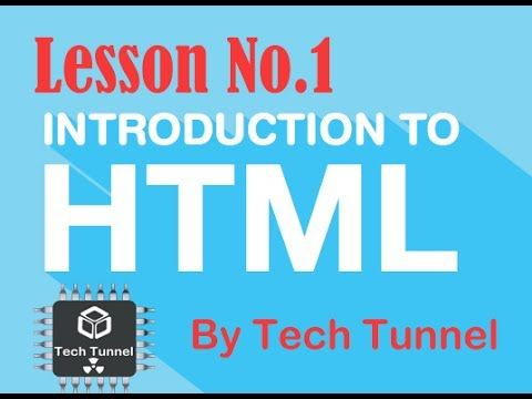 Lesson -1 - HTML Structure - HTML Basics in hindi/Urdu Full free course ...  (With images) | Free courses, Lesson, Html structure