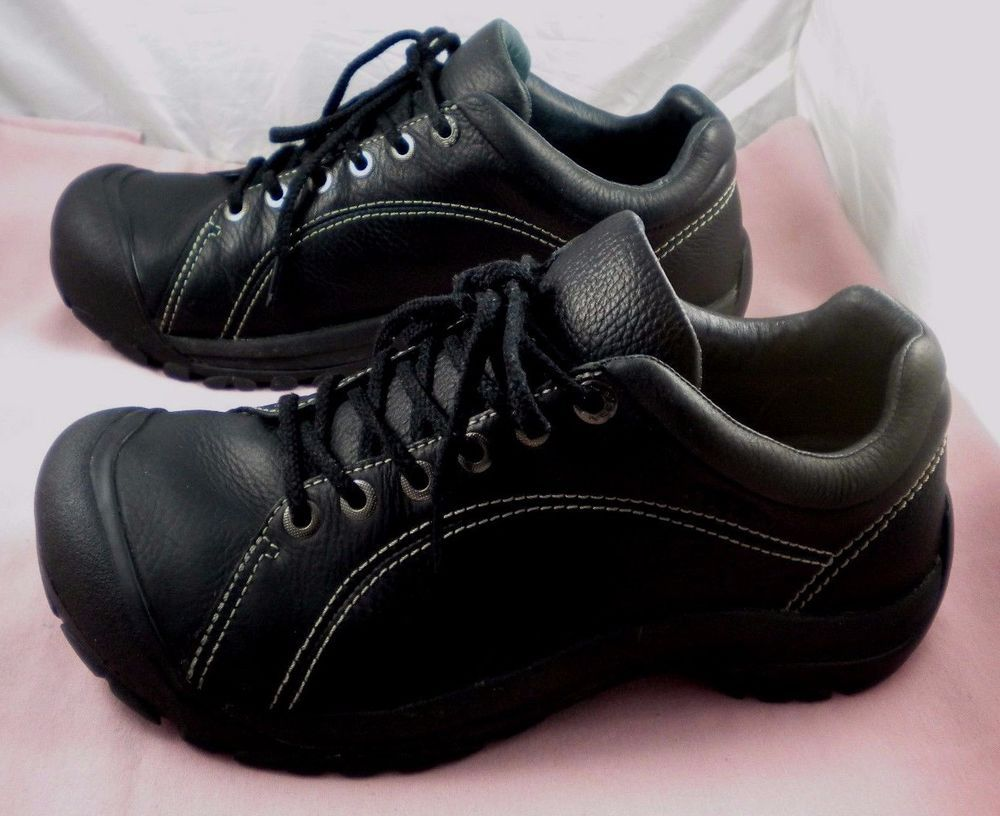 7e63b3c17cfe Men s Keen Austin Black Leather Athletic Lace Up Casual Oxfords Shoes 10.5  M  KEEN  Oxfords