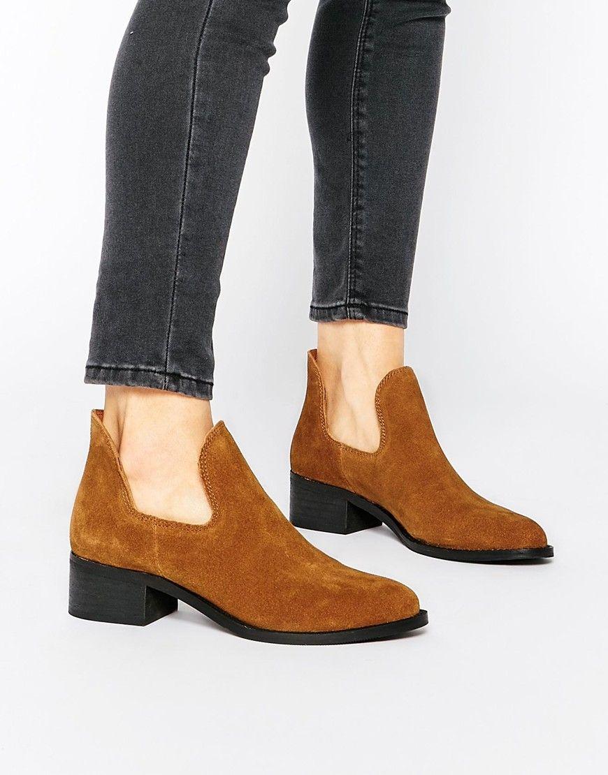 Park+Lane+Cut+Out+Suede+Ankle+Boots