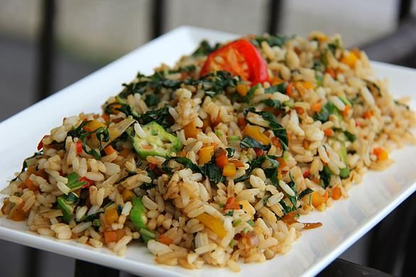 a quick jamaican callaloo fried rice recipe with images
