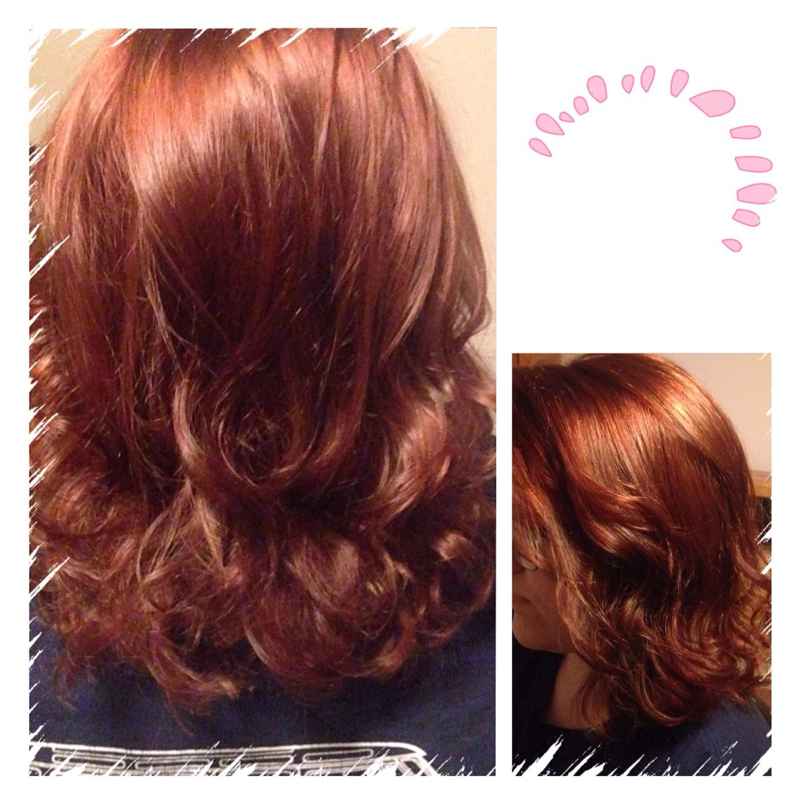 Shoulder length cut with long layers (brownish gold color)
