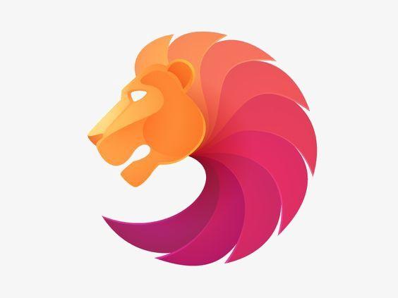 Cartoon Lion Lions Logo Color Gradual Change Png Image And Clipart Art Logo Animal Logo Branding Design Inspiration