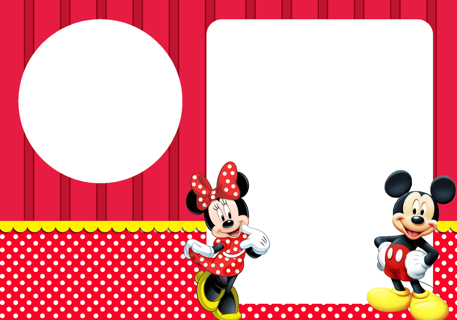 Montando Minha Festa Mickey E Minnie Invitaciones Mickey