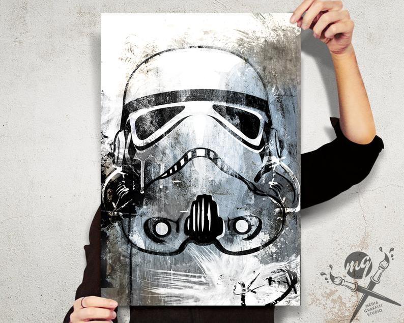 Street Art Star Wars Storm Trooper print canvas poster original