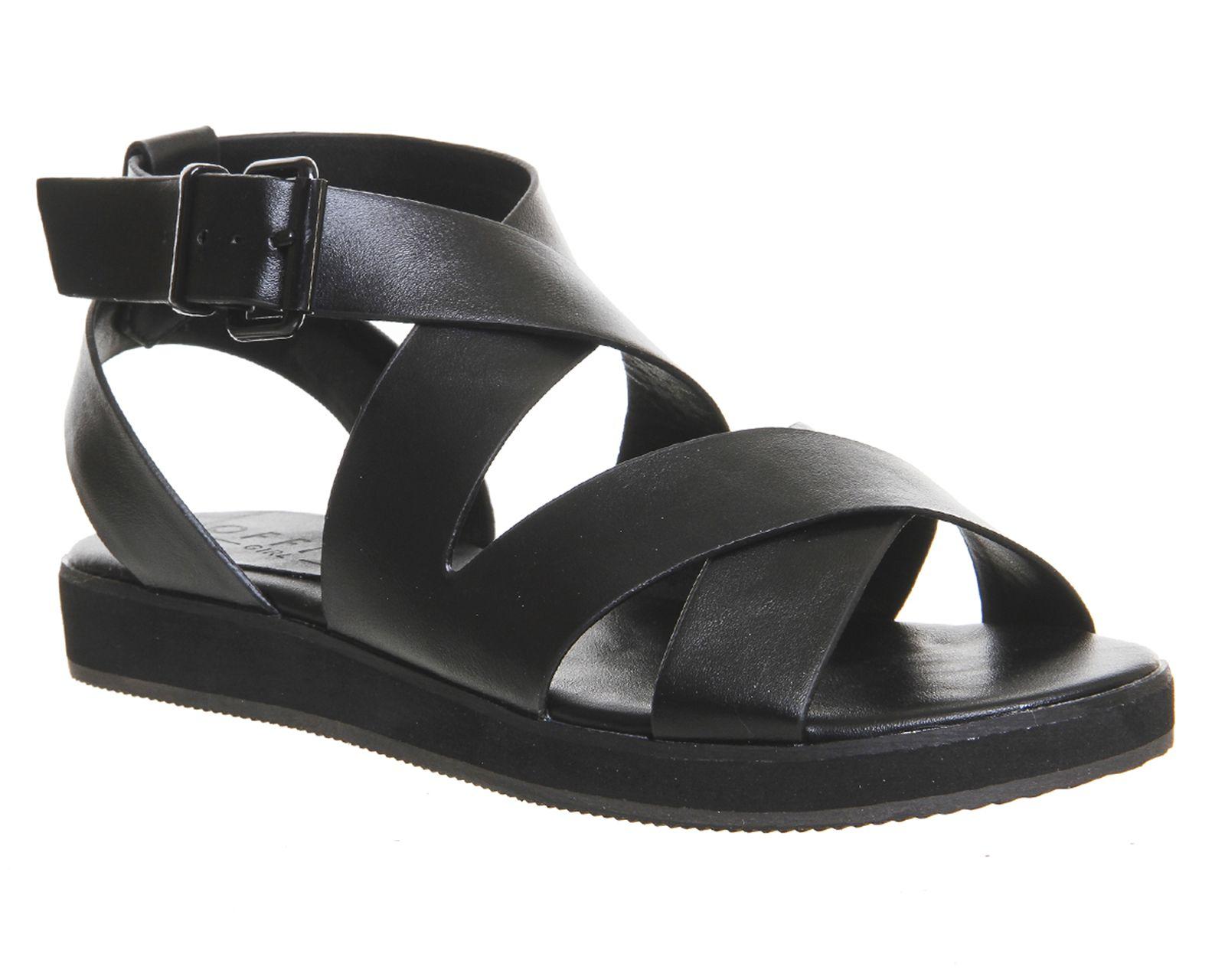 Black Office Bounce Sporty Sandal From Co Uk
