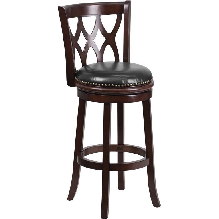 Wood stools make a beautiful statement in the home when wanting to ...