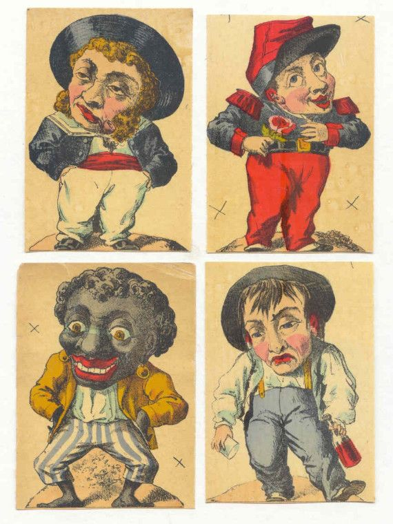 1900s French Game PRINT MEN ... Awesome early 1900s by inkpainter, $7.00
