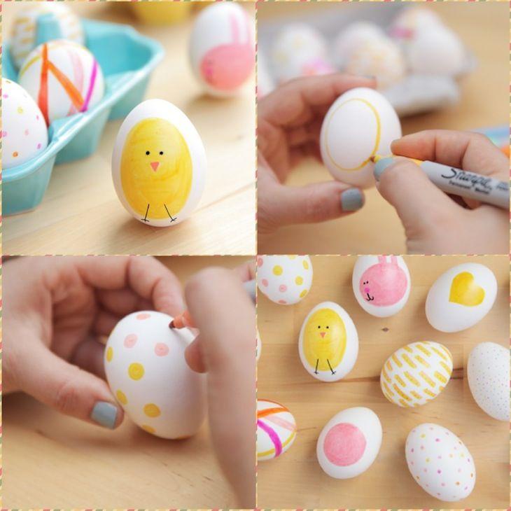 Простой способ раскрасить яйца. | Пасхальные поделки, Идеи ...
