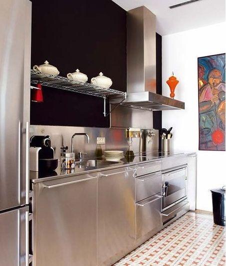 Pin de l nea 3 cocinas madrid en cocinas en acero for Cocinas gunni madrid