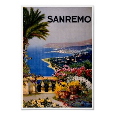 Sanremo Italy ~ Vintage Italian Travel Advertising Posters by TheVintageVamp