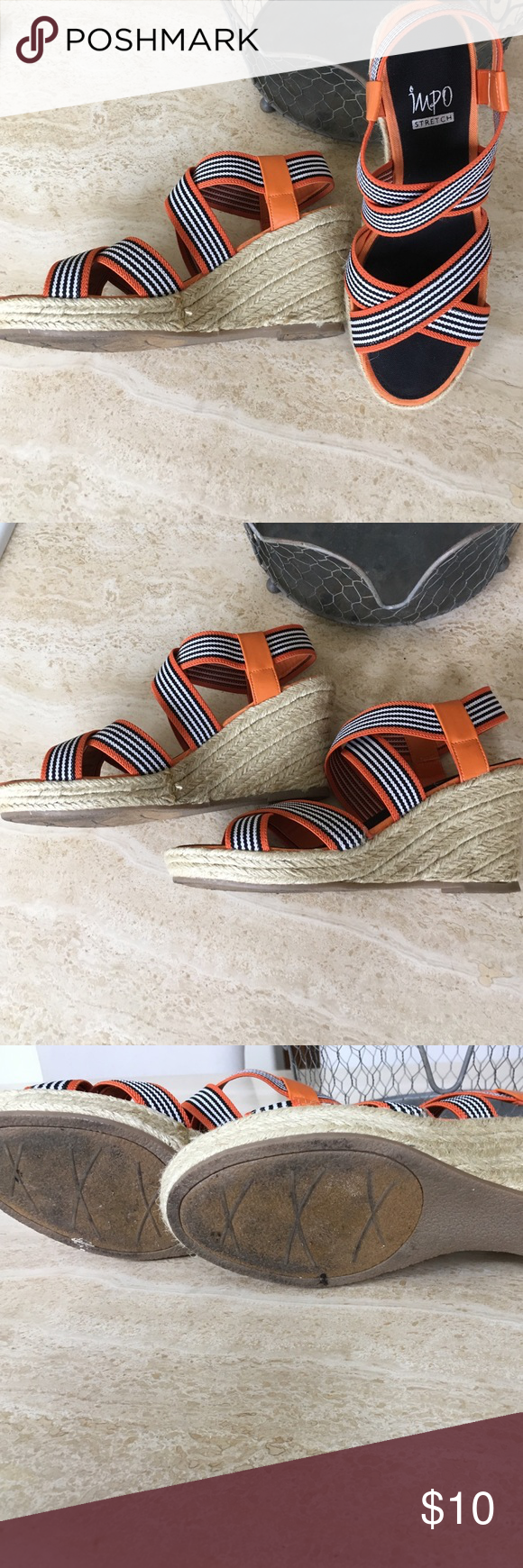 Impo espadrille Worn once but excellent condition. About 3.25 in wedge heel Impo Shoes Wedges