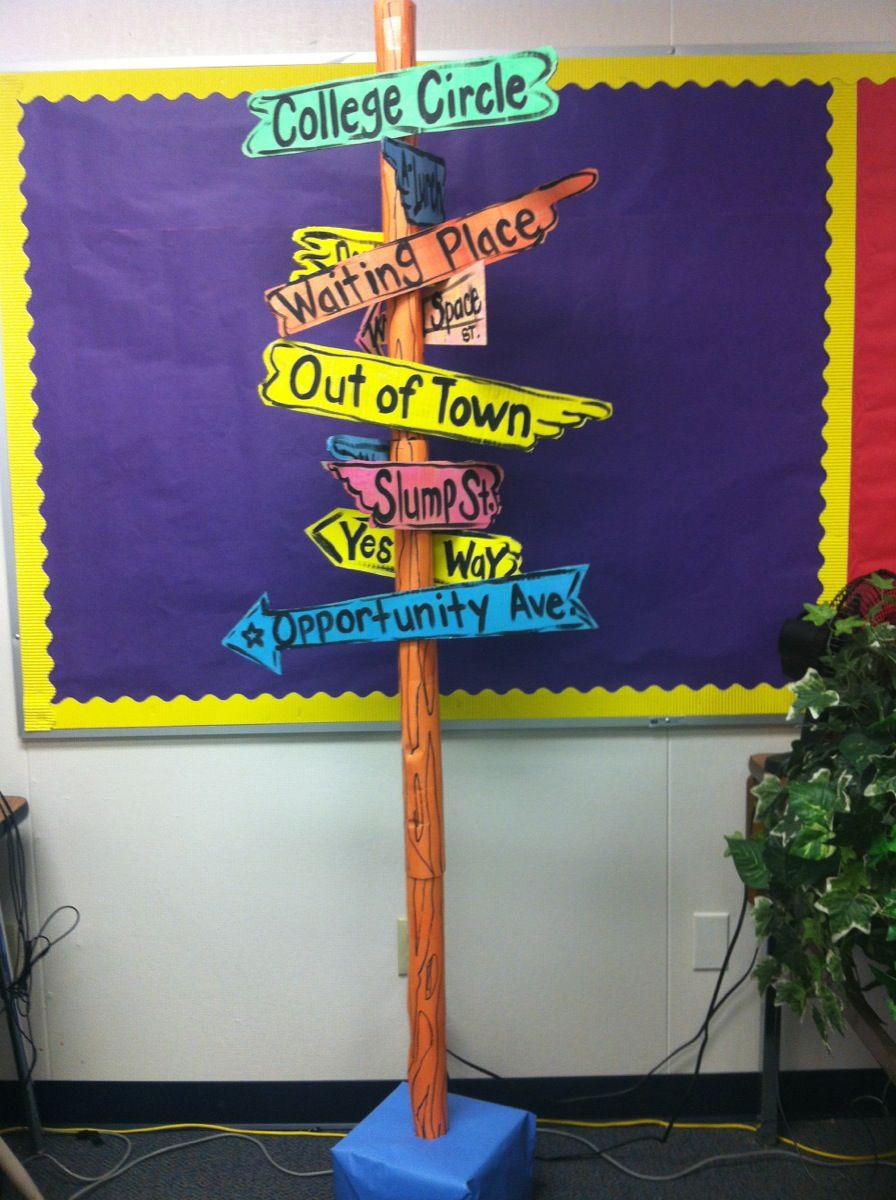 Classroom Decoration Pictures For Kindergarten ~ Quot oh the places you ll go street signs we could do this
