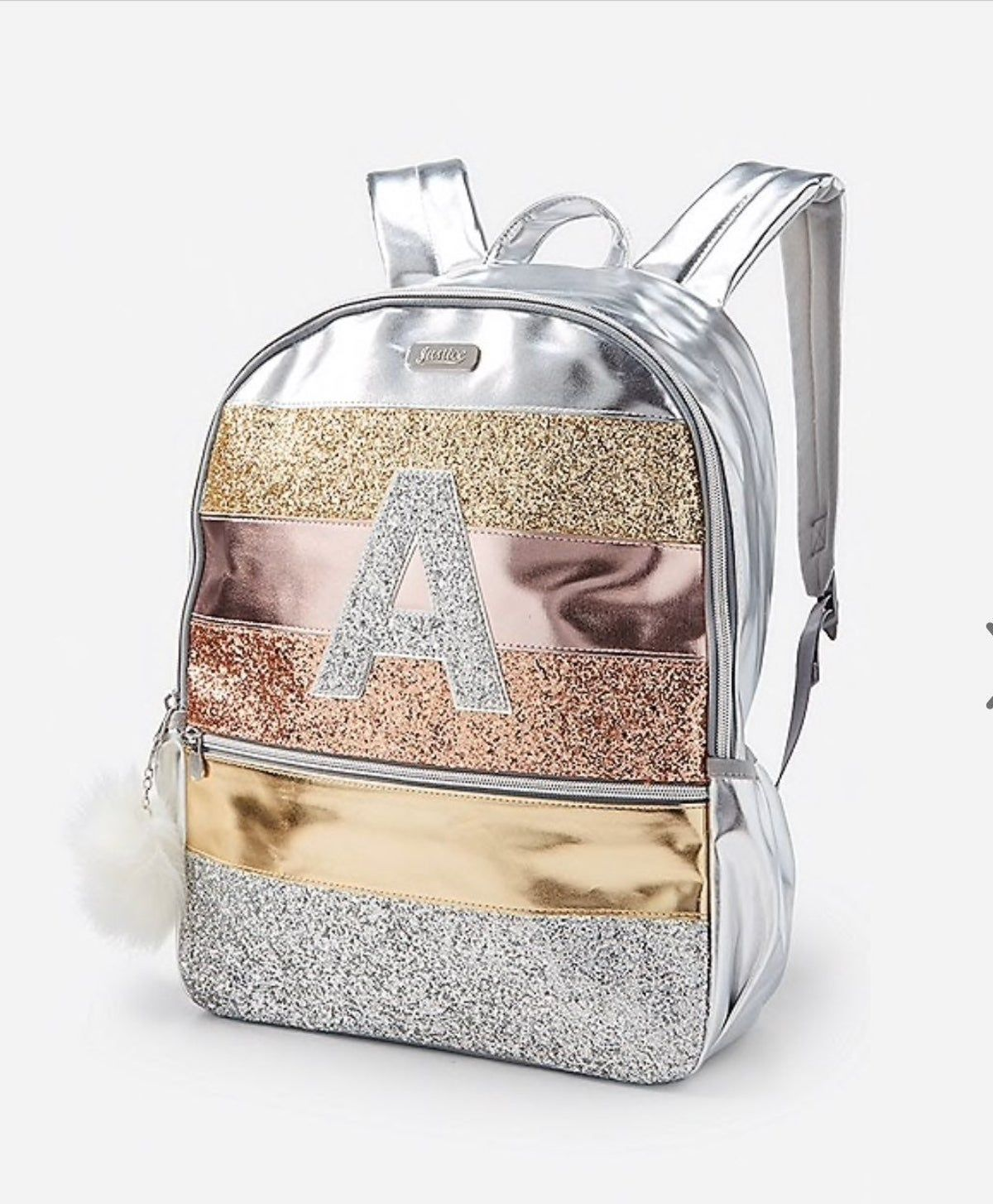 Justice Backpack And Lunch Tote M Letter Justice Bags Kids Purse Stylish Backpacks