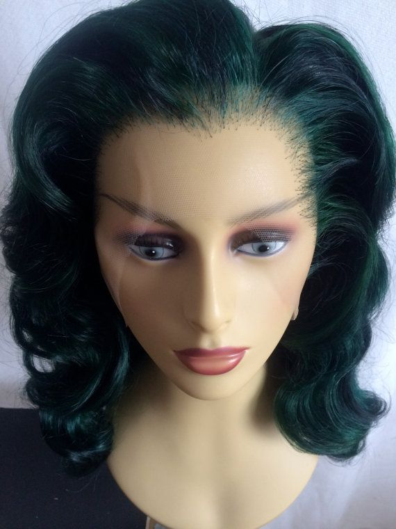 Sensational Lace Front Sea Goddess Mermaid Wig in Emerald Sea Green 22 to  23