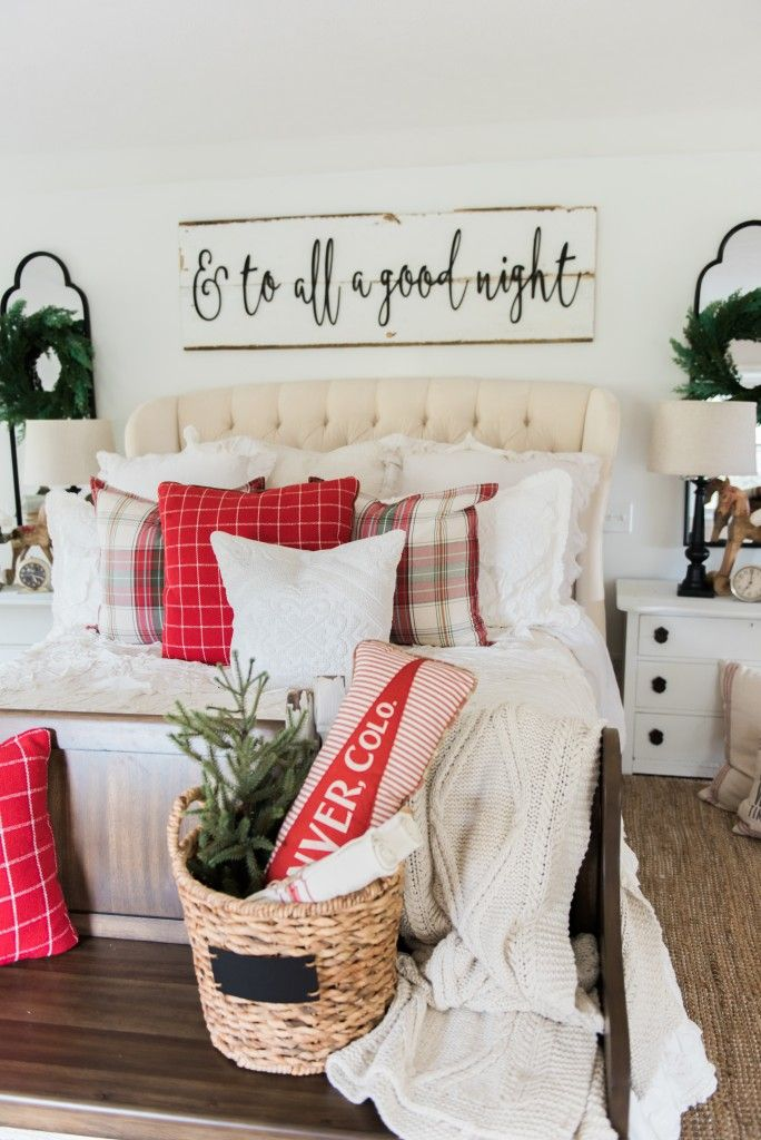 Cozy Rustic Farmhouse Cottage Christmas decor - A great pin for inspiration  for neutral rustic holiday