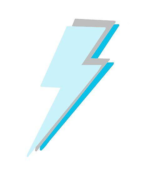 blue lightning bolt Photographic Print