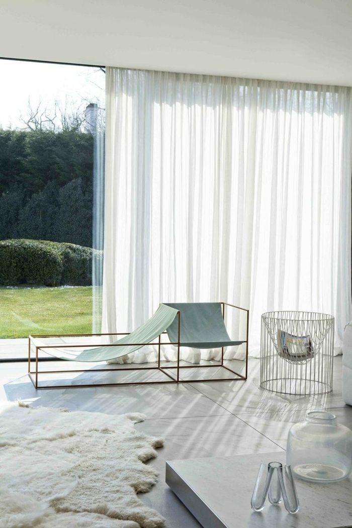 Le rideau voilage dans 41 photos rideau store rideaux voilages et rideaux - Voilage moderne fenetre ...