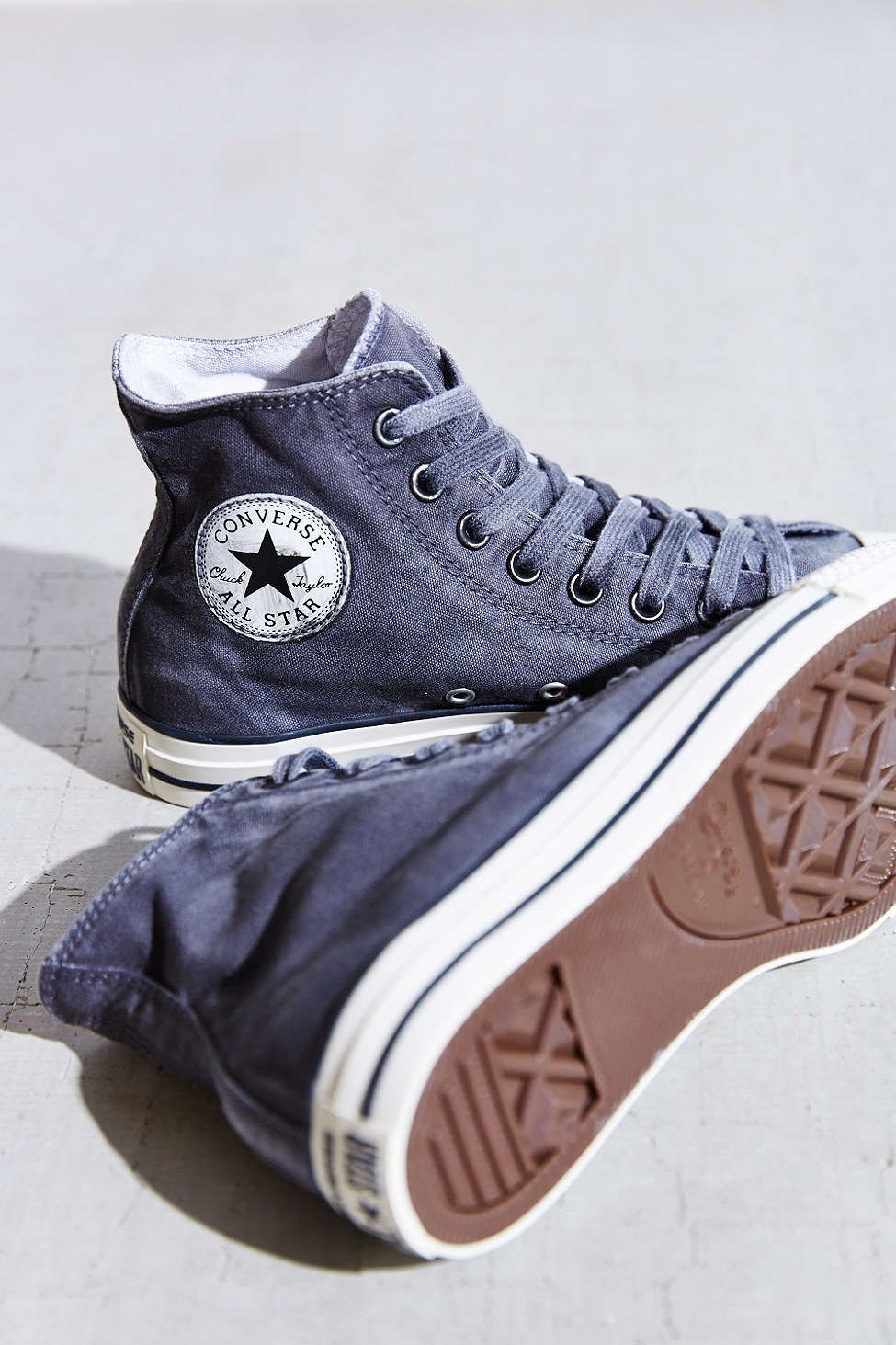 17b0e2e14288 Converse Chuck Taylor All Star Washed High-Top Sneaker- Black W from Urban  Outfitters  shoes