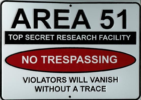Image result for area 51 signage