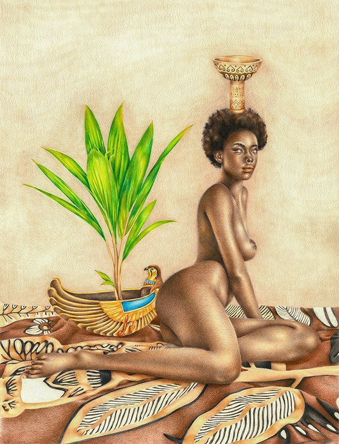 Ancient greek nude naked girl with flutes reproduction replica
