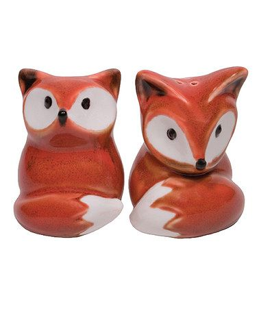cheerful cool salt and pepper shakers. Foxy Salt Pepper Shaker Set  You can find out more details at the link of image Loving this Fox Shakers on zulily zulilyfinds