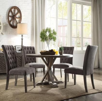 Carmelina Collection 70245set 5 Pc Dining Room Set With Round