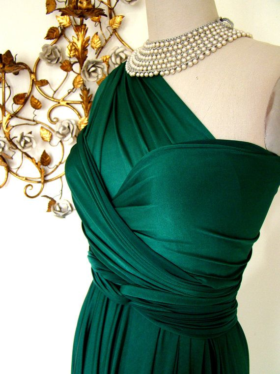 Convertible Wrap Dress- Emerald Bay Satin- Last of Fabric | Wrap ...