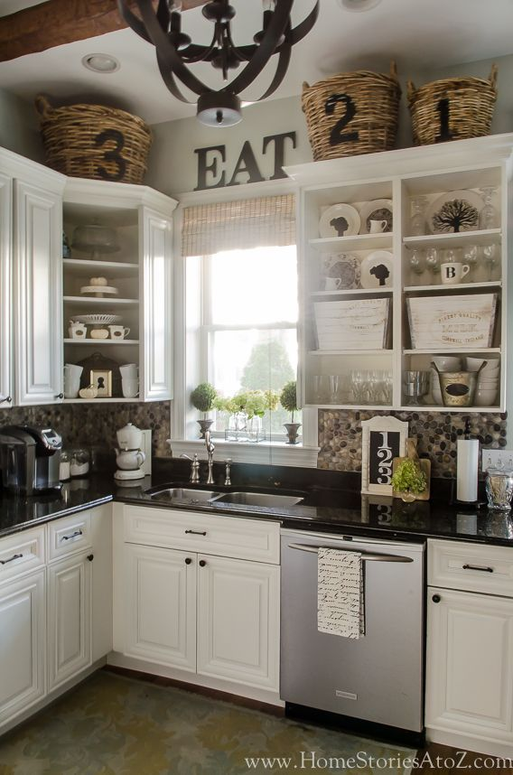 Fall Home Tour: Fall Decorating Ideas   Http://centophobe.com/. Top Of  CabinetsOff White Kitchen ...