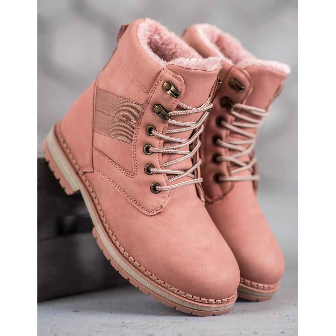 Damskie Shelovet Shelovet Rozowe Buty Zimowe Boots Shoes Timberland Boots