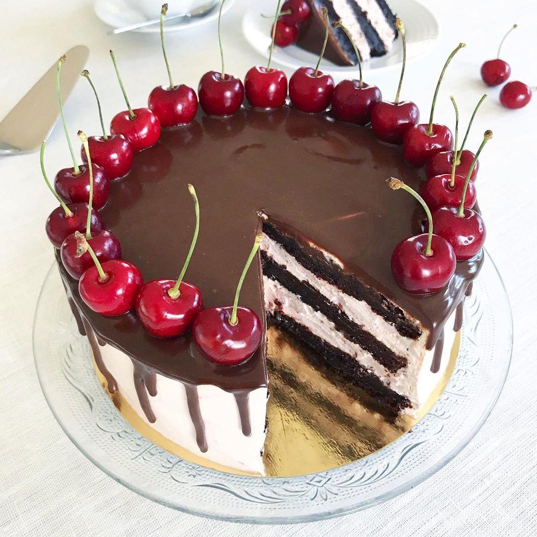 very cherry chocolate cake recept