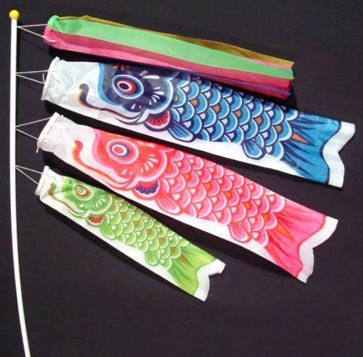 Koinobori Koi Nobori Carp Windsocks Streamers Colorful Fish Flag Decoration Med