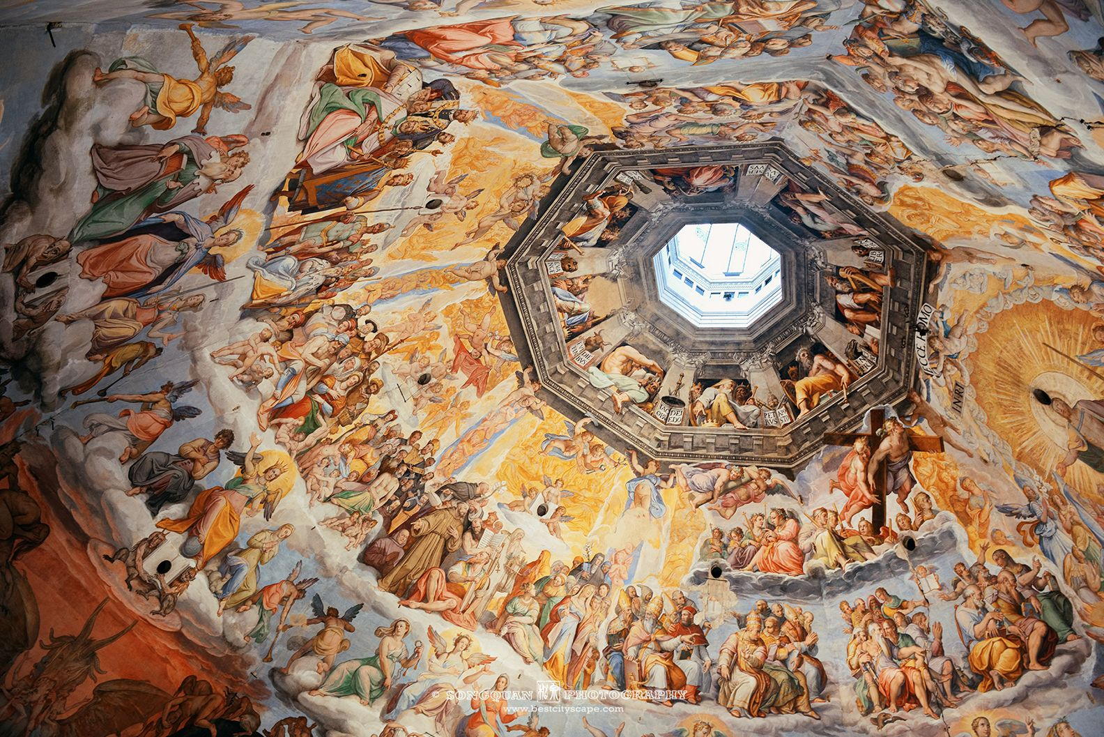 'The Last Judgement' fresco in Florence Cathedral in Italy.