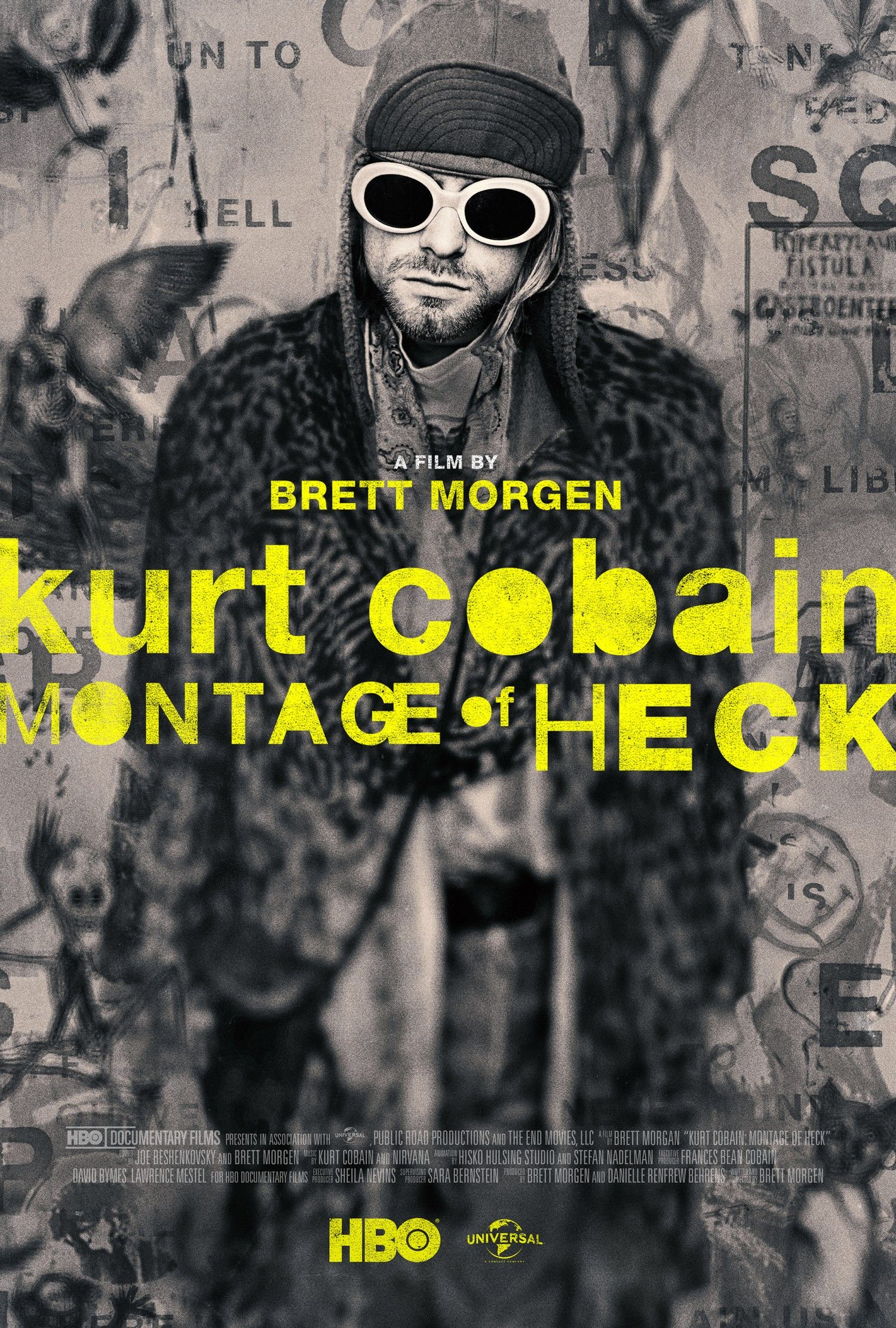 kurt-cobain-montage-of-heck-poster-yellow.jpg   human   Pinterest ...