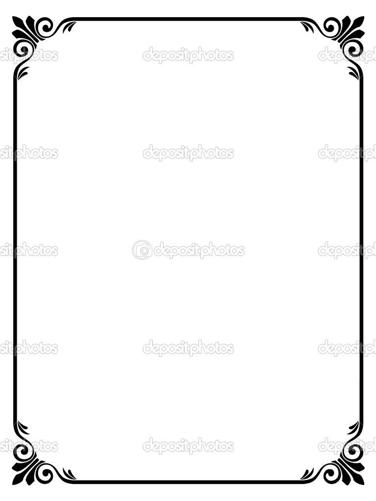 elegant frame vector clipart panda free clipart images [ 768 x 1024 Pixel ]
