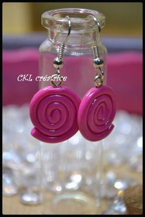 support boucle d'oreille fimo