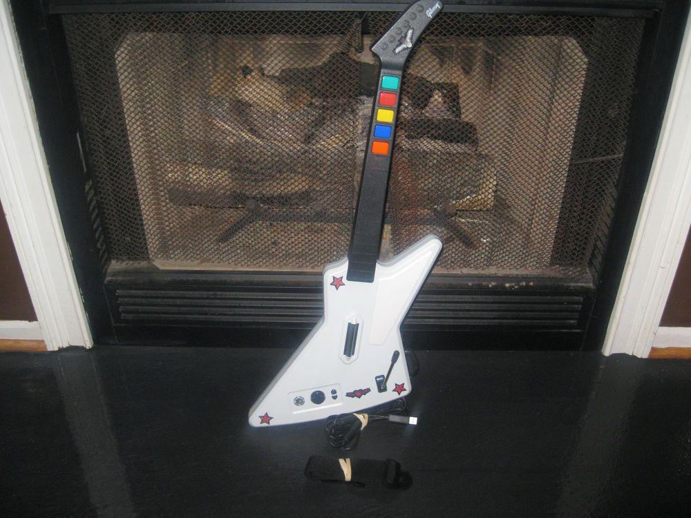 Xbox 360 Guitar Hero Gibson X-Plorer Explorer Red Octane