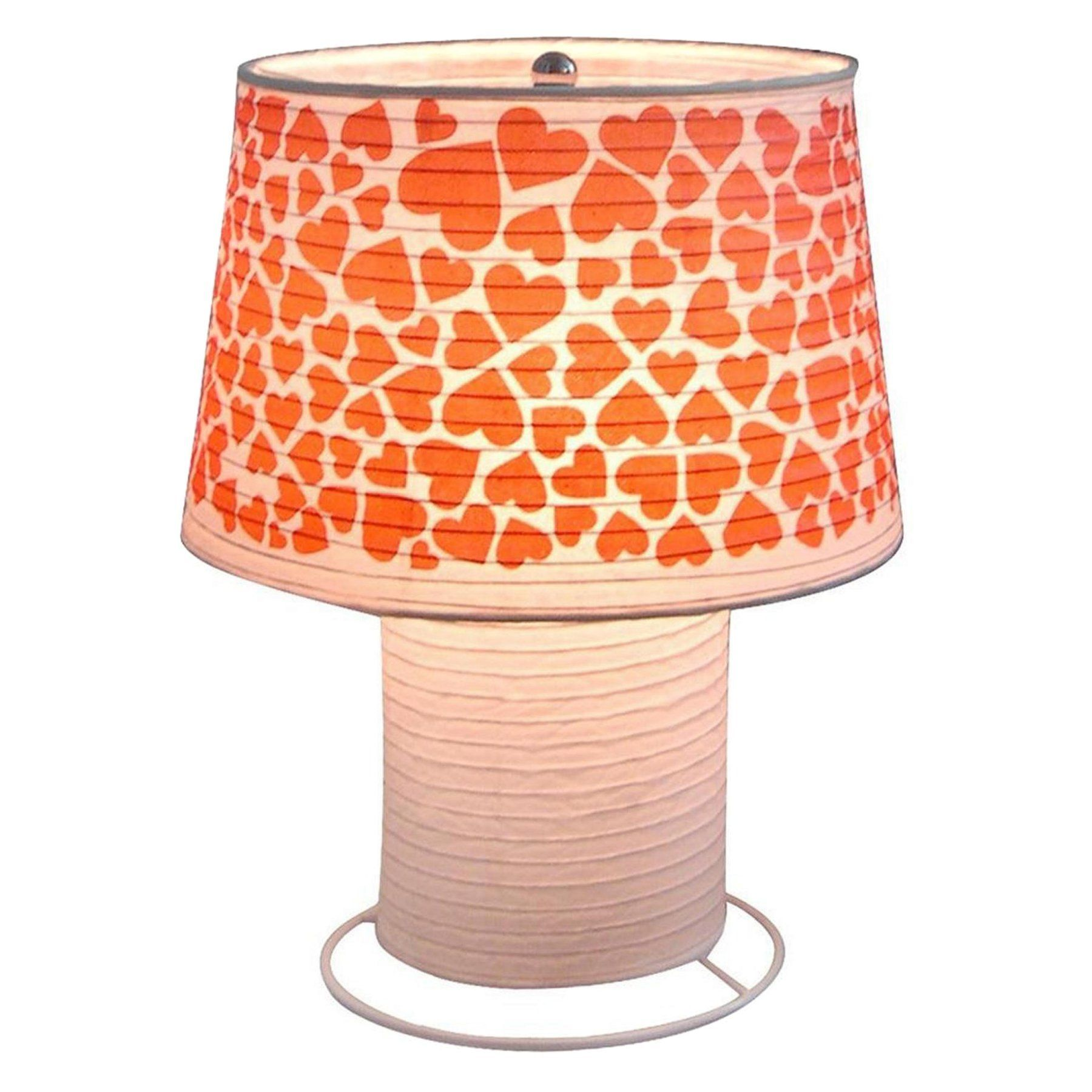 Creative Motion Industries Heart Paper Table Lamp - 12863-1 ... for Creative Paper Lamps  35fsj