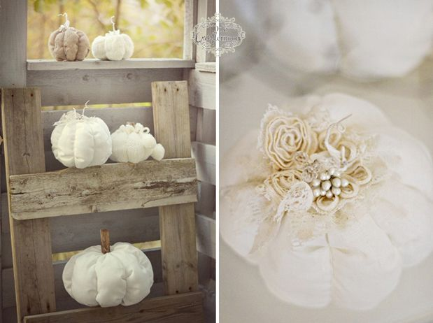 Fabric pumpkins ♥ Perfect for Fall weddings