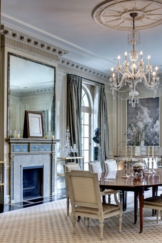 Maurice fatio designed significant home preston hollow sitting on acres beautiful interiors also best dining rooms images room kitchen lunch rh pinterest