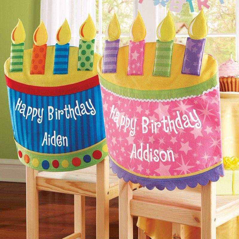 Birthday chair cover verjaardag versiering knutselen