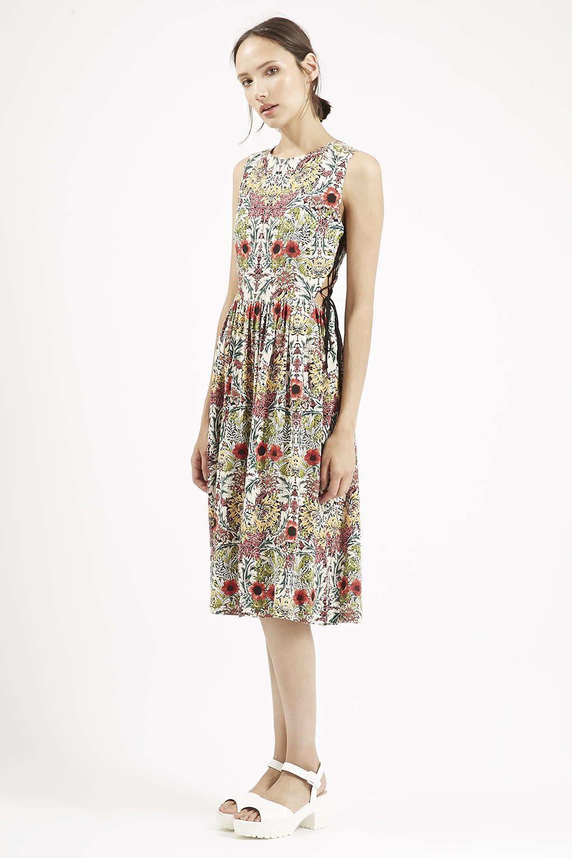6b0c2fd34e28c2 Floral Tie-Side Midi Dress - Topshop | Fashion | Dresses, Nordstrom ...