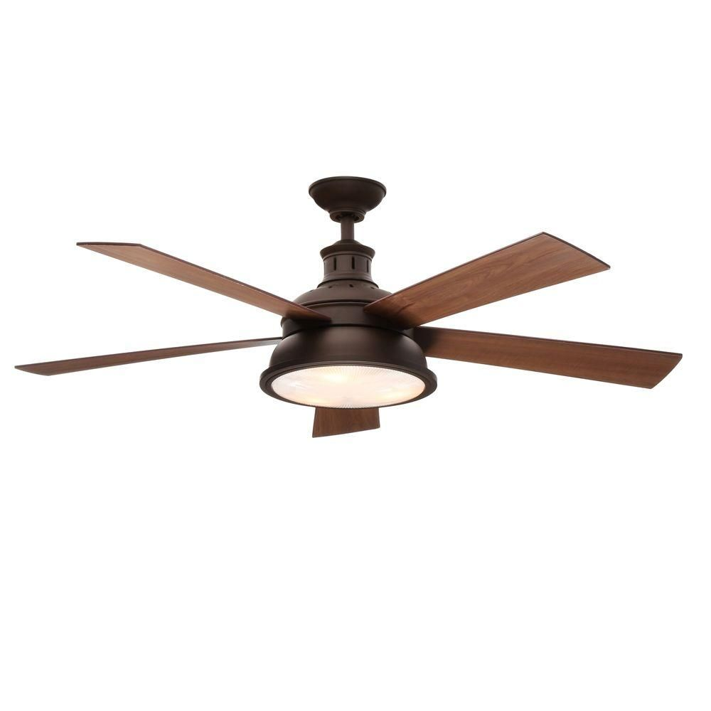 Hampton Bay Beverley Ii 52 In Indoor Natural Iron Ceiling Fan With Light Kit Al51d Ni The Home Depot Ceiling Fan Ceiling Fan With Light Bronze Ceiling Fan