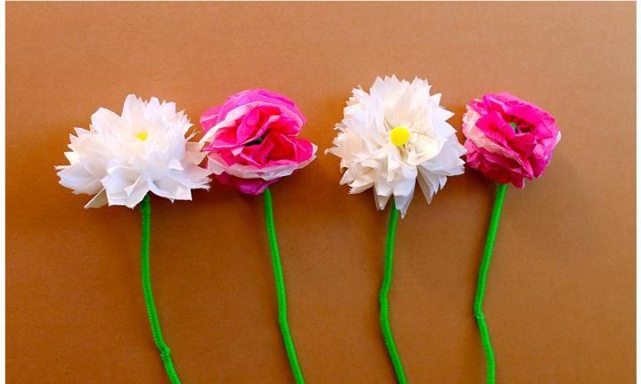 6 pretty paper flowers to make kidspot creative kids pinterest 6 pretty paper flowers to make kidspot mightylinksfo
