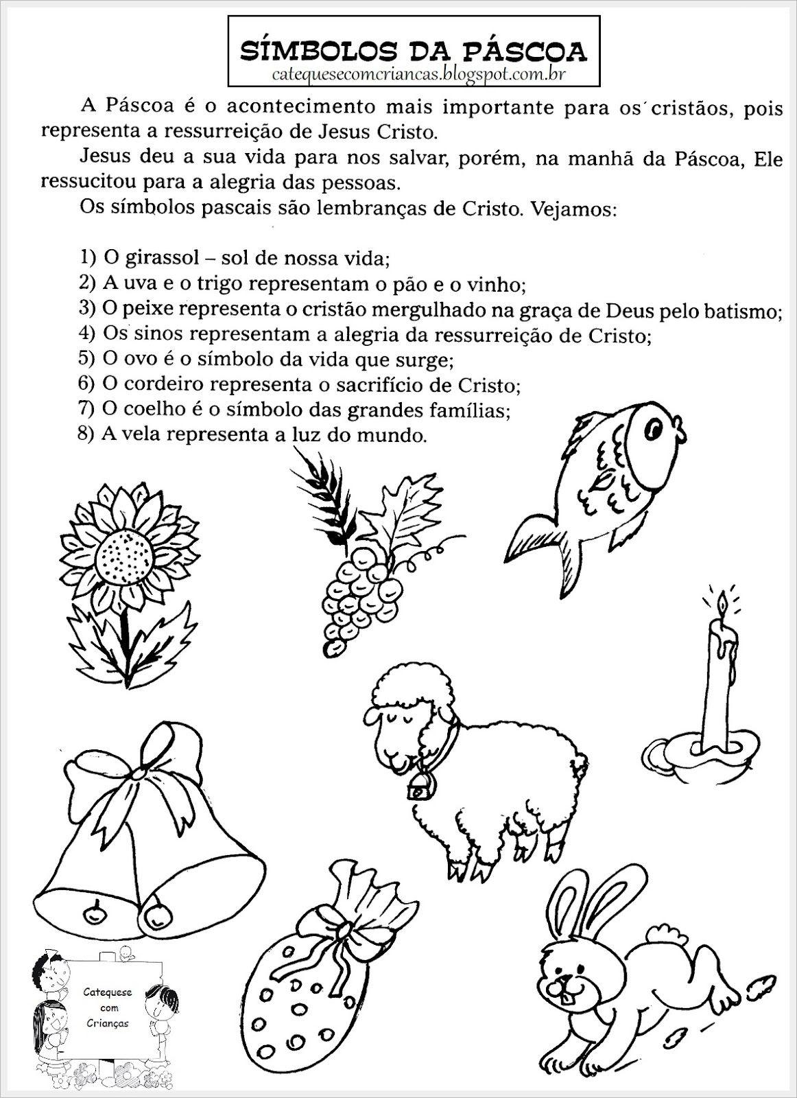 Um modo bem resumido sobre os Símbolos da Páscoa. Ideal para turmas ...
