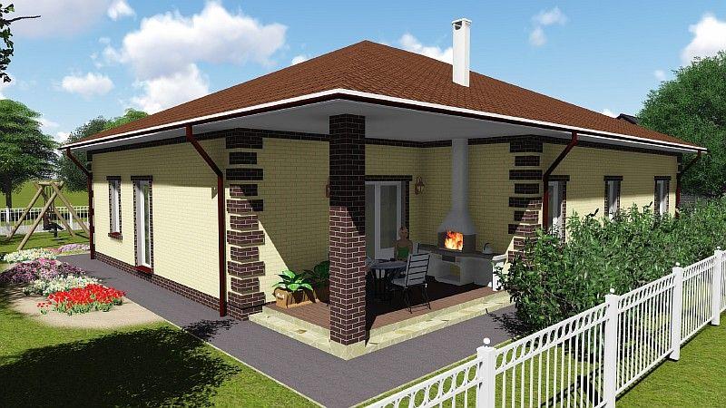 дизайн одноэтажного дома снаружи фото - Поиск в Google ...