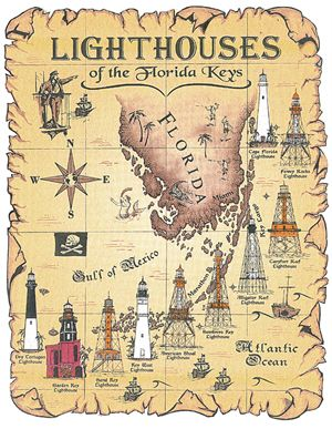 Florida Lighthouses Map.Goal For Winter Break Sail Past All The Lighthouses Of The Florida