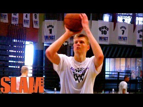 Nba Pre Draft Tour Kristaps Porzingis Workout Video Slamonline New York Knicks