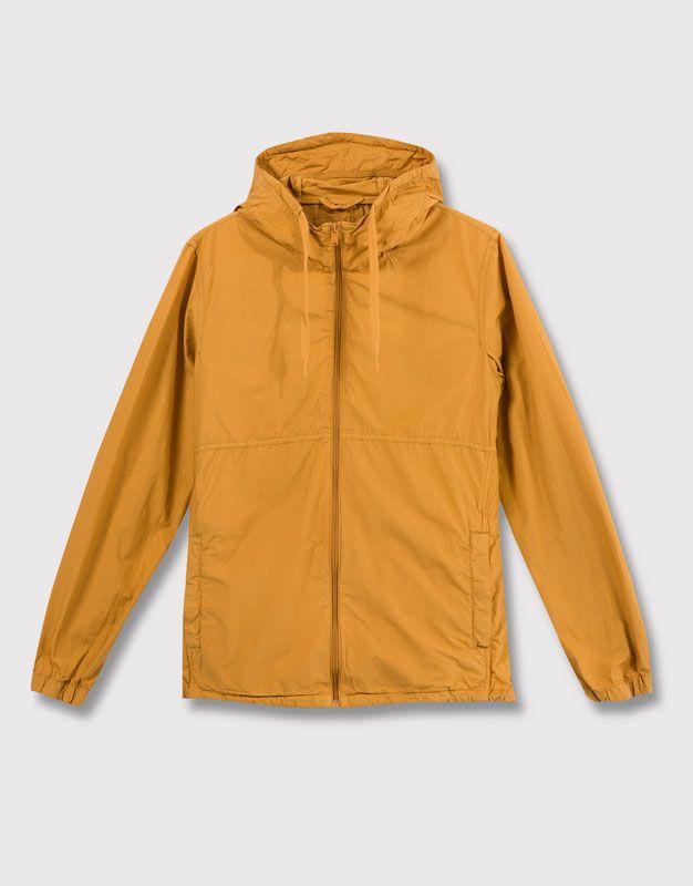 hooded poplin jacket jackets blazers man pull bear. Black Bedroom Furniture Sets. Home Design Ideas